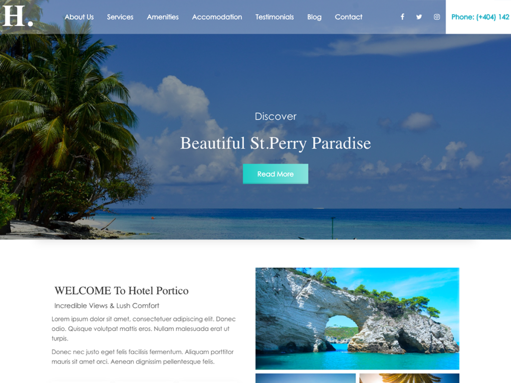 Hotel Pagoda, Free WordPress theme Hotel