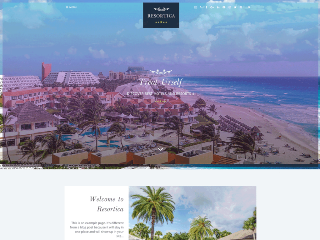 Free WordPress theme Hotel
