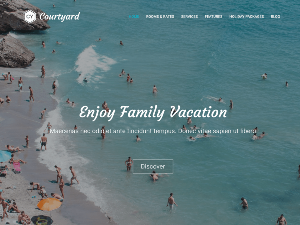 Free WordPress theme Hotels